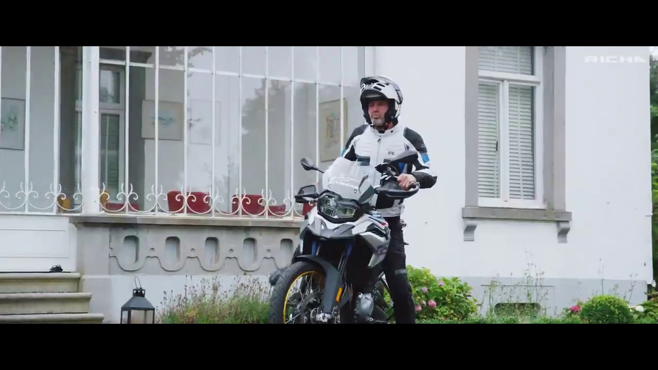 Video Geacă Moto Damă din Textil RICHA AIRBENDER LADY · Negru / Roz / Alb