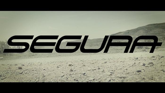 Video Geacă Moto din Piele SEGURA STRIPE Perfo · Negru / Alb