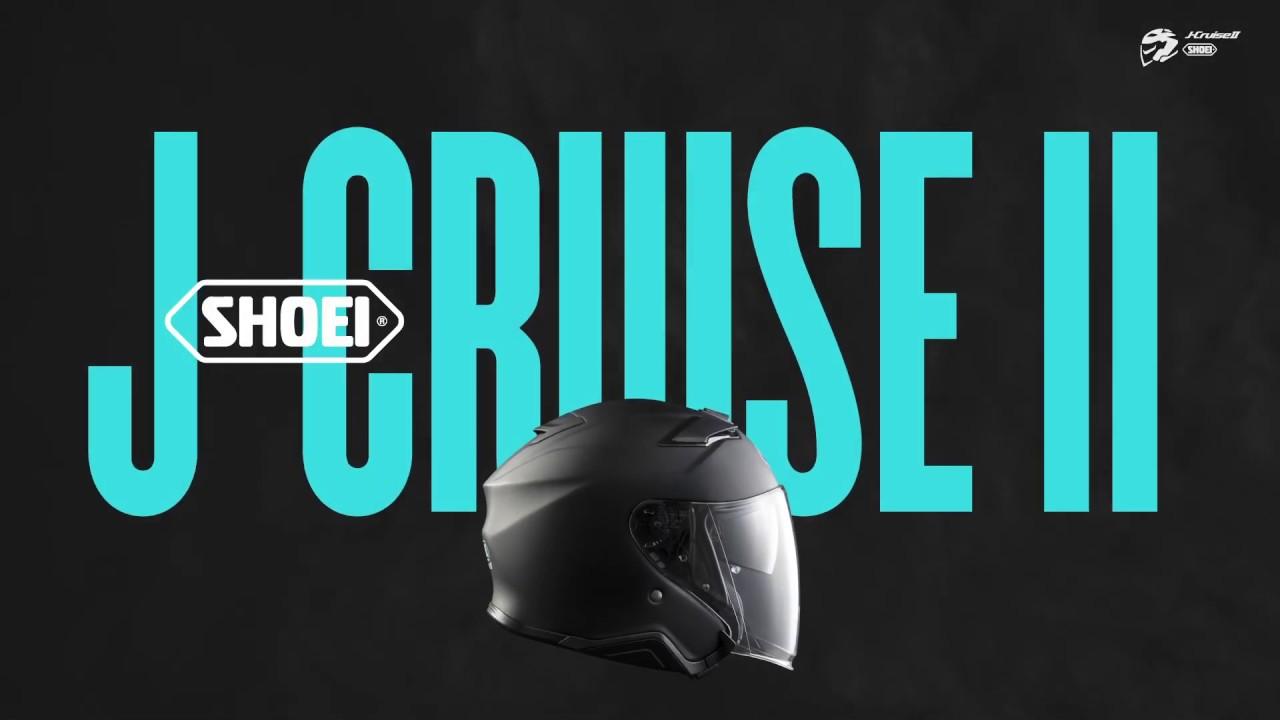 Video Casca Moto Open Face SHOEI J-CRUISE II Adagio TC-6 · Alb / Negru