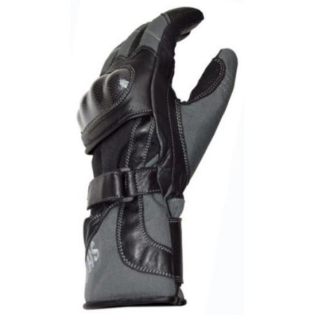 Mănuși Moto din Piele & Textil SHOX NARVIK · Negru