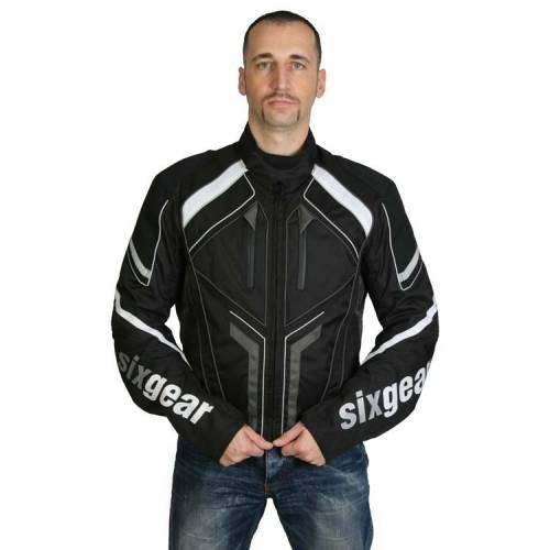 Geacă Moto din Textil SIXGEAR SPORTLINE · Gri / Negru