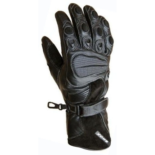 Mănuși Moto din Piele SHOX STREAM · Negru