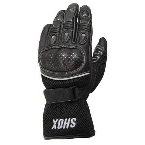Mănuși Moto din Piele & Textil SHOX CARBONET · Negru