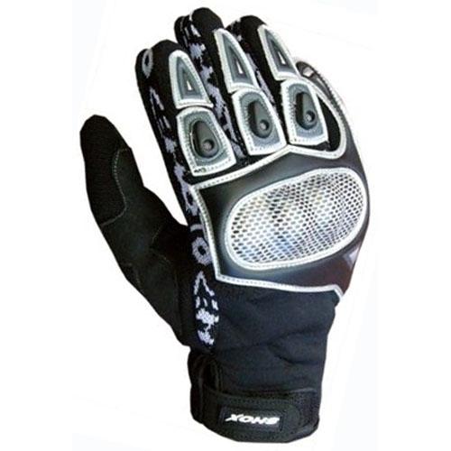 Mănuși Enduro - Cross SHOX CEMOTO II · Negru / Alb