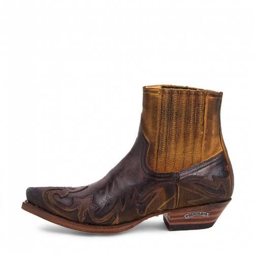 Botine Cowboy  Sendra Boots 4660 · Cuervo SERRAJE CAMELLO-BARBADOS QUERCIA · Maro / Negru