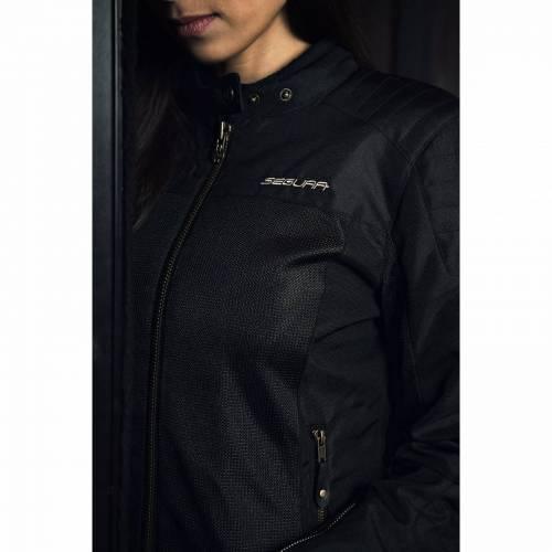 Geacă Moto Damă din Textil SEGURA LADY OSKAR · Negru
