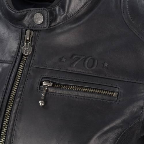 Geacă Moto Damă din Piele & Textil SEGURA KROFT · Negru
