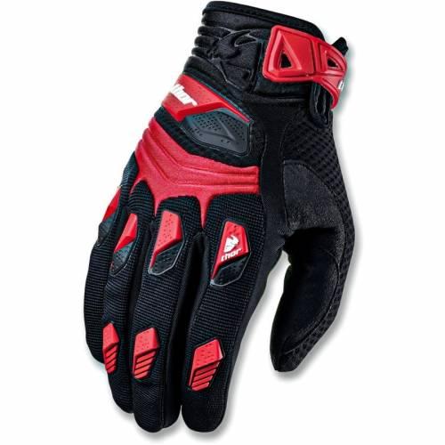 Mănuși Enduro - Cross THOR DEFLECTOR · Negru / Roșu