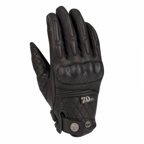 Mănuși Moto Damă din Piele SEGURA JAY · Negru