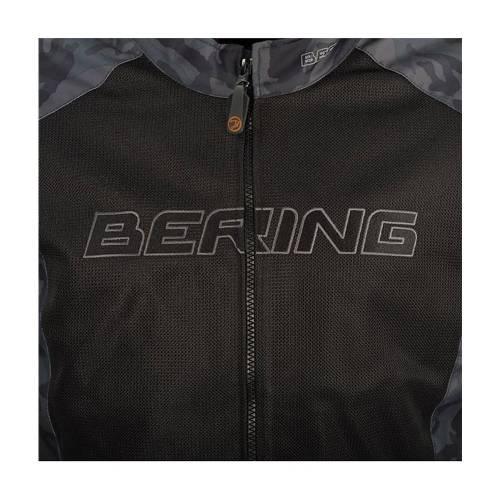 Geacă Moto din Textil BERING SPIRIT CAMO · Negru / Verde