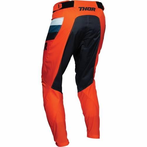 Pantaloni Enduro - Cross THOR PULSE RACER · Alb / Negru / Portocaliu / Albastru