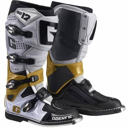 Cizme Moto din Piele & Textil GAERNE SG12 · Negru / Gri / Magneziu