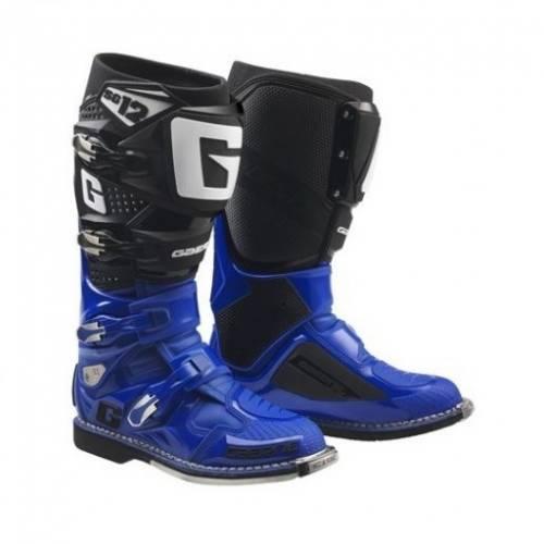 Cizme Moto din Piele & Textil GAERNE SG12 · Negru / Albastru