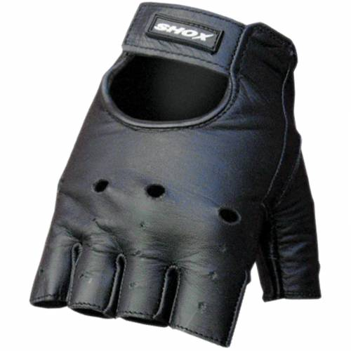 Mănuși Moto din Piele SHOX CHOPPER · Negru
