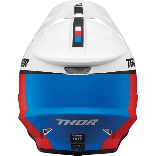Cască Enduro - Cross THOR SECTOR RACER · Alb / Albastru / Roșu