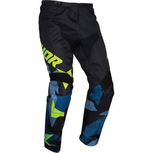 Pantaloni Enduro - Cross Copii THOR SECTOR WARSHIP · Negru / Galben / Albastru