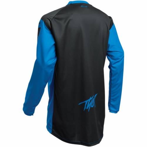 Tricou Enduro - Cross Copii THOR SECTOR LINK · Negru / Albastru