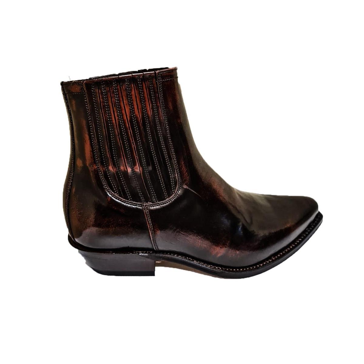 Botine Cowboy SENDRA BOOTS 2581 Florentic Fuchsia · Negru / Maro