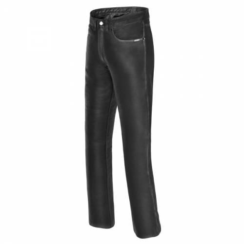 Pantaloni Moto din Piele SHOX CRUISER · Negru