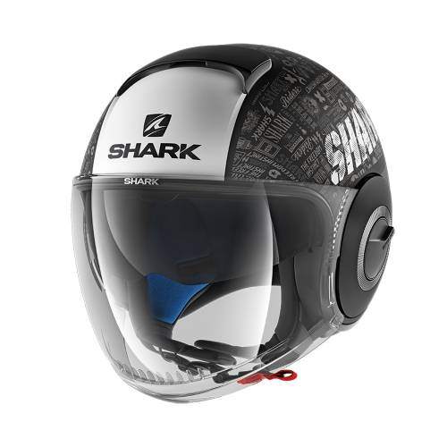 Cască Moto Open Face SHARK NANO TRIBUTE · Negru