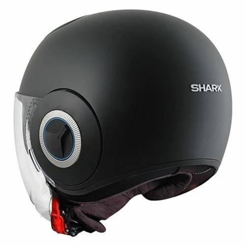 Cască Moto Open Face SHARK NANO BLANK · Negru Mat