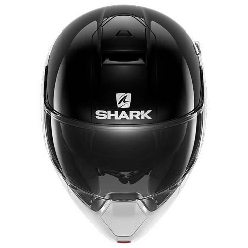 Cască Moto Flip Up SHARK EVOJET DUAL BLANK · Negru / Alb