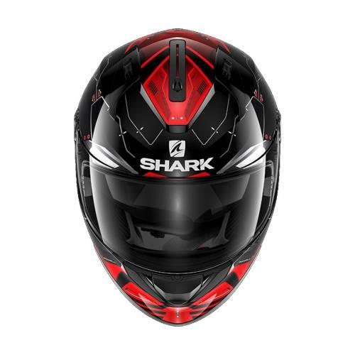 Cască Moto Integrală SHARK RIDILL MECCA  · Argintiu / Negru / Roșu