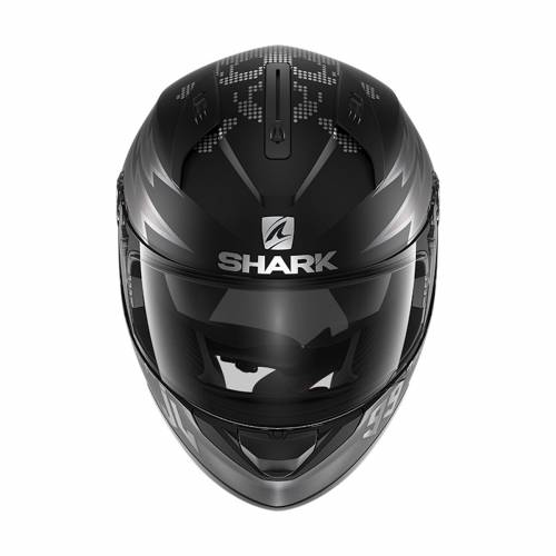Cască Moto Integrală SHARK RIDILL 1.2 CATALAN BAD BOY · Negru / Argintiu Mat