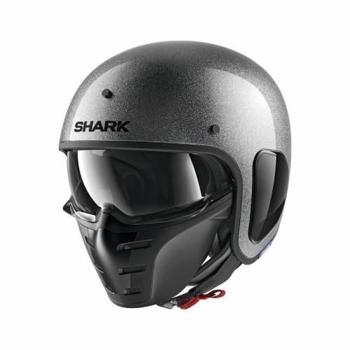 Cască Moto Open Face SHARK S-DRAK 2 GLITTER · Argintiu