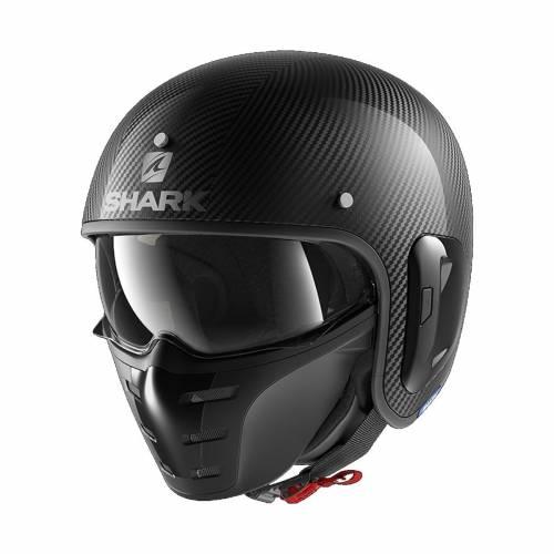 Cască Moto Open Face SHARK STREET DRAK CARBON SKIN · Negru