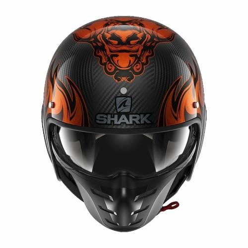 Cască Moto Open Face SHARK S-DRAK 2 CARBON DAGON · Negru / Portocaliu