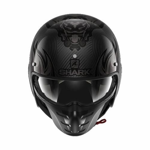 Cască Moto Open Face SHARK STREET DRAK CARBON SKIN · Negru / Gri