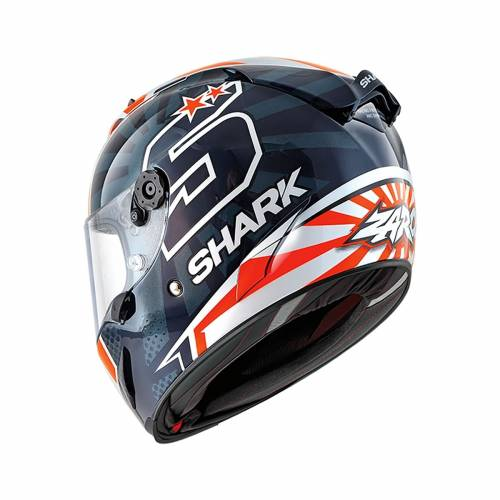 Cască Moto Integrală SHARK RACE-R PRO REPLICA ZARCO GP FRANCE · Alb / Albastru / Portocaliu