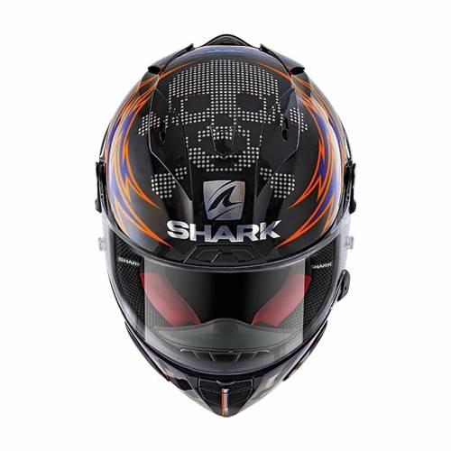 Cască Moto Integrală SHARK RACE-R PRO REPLICA LORENZO CATALUNYA GP 2019 · Negru / Albastru / Roșu
