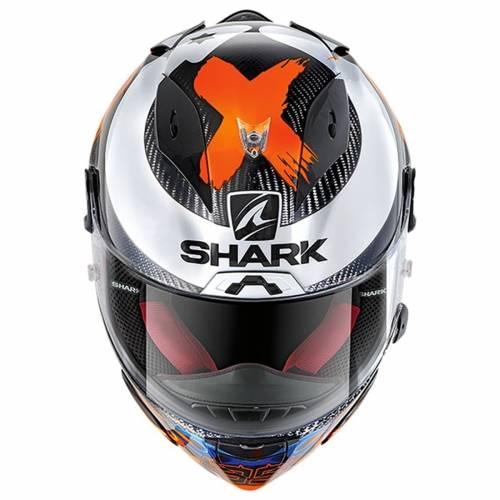 Cască Moto Integrală SHARK RACE-R PRO REPLICA LORENZO 2019 · Gri / Albastru / Roșu