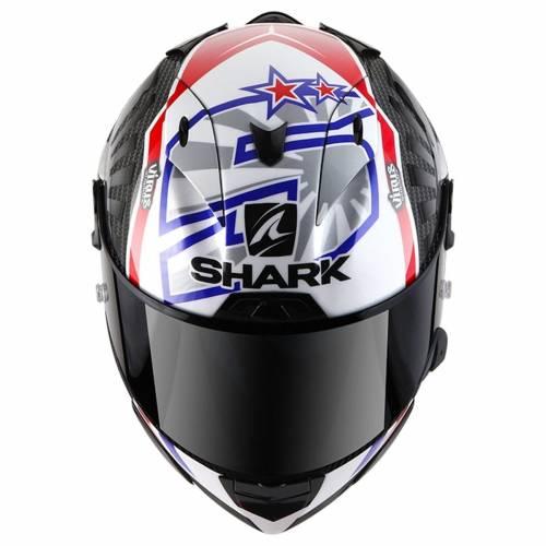 Cască Moto Integrală SHARK RACE-R PRO REPLICA ZARCO 2019 · Alb /Gri / Albastru / Roșu