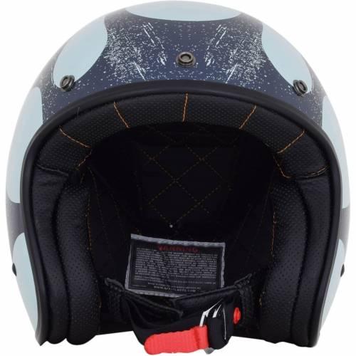 Cască Moto Open-Face AFX FX76 FLAME VINTAGE · Albastru / Negru