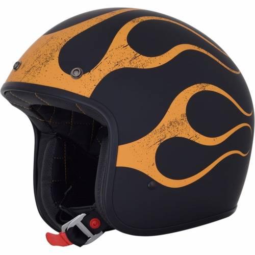 Cască Moto Open-Face AFX FX76 FLAME VINTAGE · Portocaliu / Negru