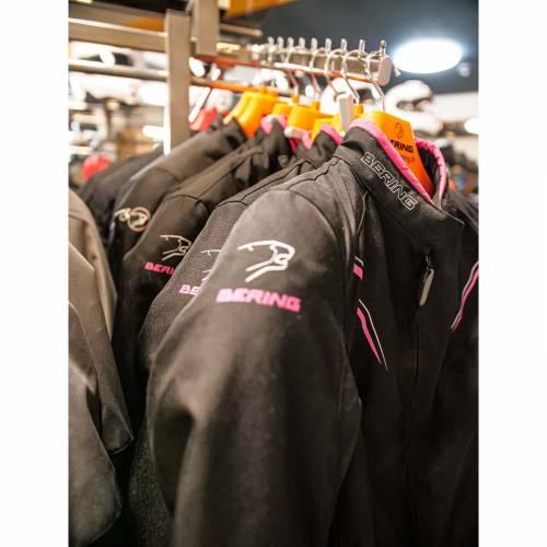 Geacă Moto Damă din Textil BERING LADY MERYLL · Negru / Roz