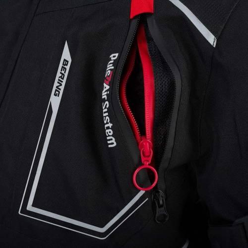 Geacă Moto din Textil BERING OURAL · Negru / Roșu