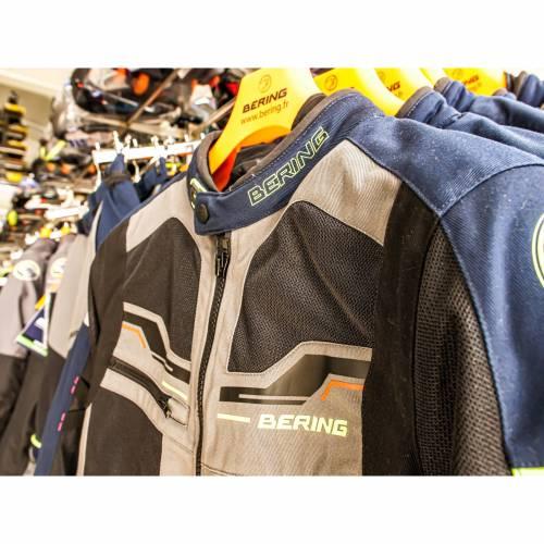 Geacă Moto din Textil BERING BAMAKO · Negru / Albastru / Gri