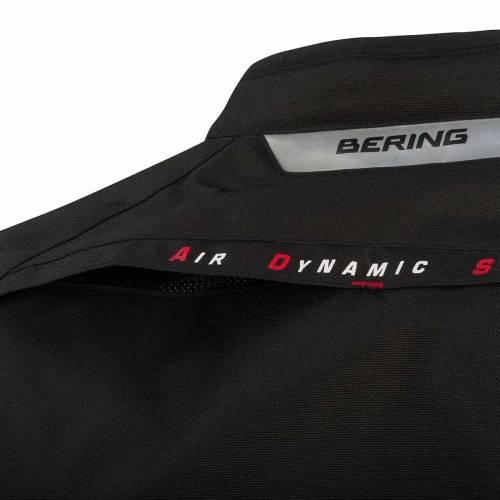 Geacă Moto Damă din Textil BERING LADY EVE-R · Negru / Roșu