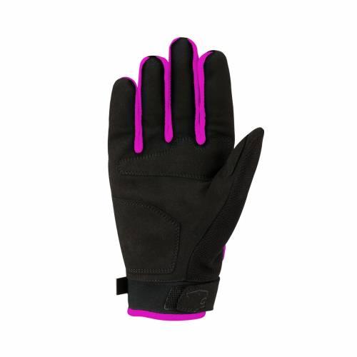 Mănuși Moto Damă din Textil BERING LADY YORK · Negru / Roz
