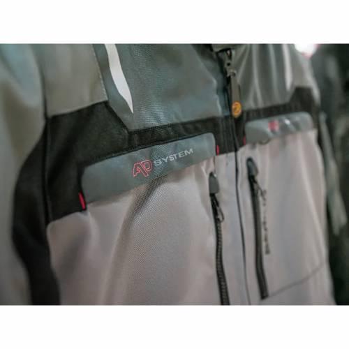 Geacă Moto din Textil BERING PANAMA · Gri / Negru