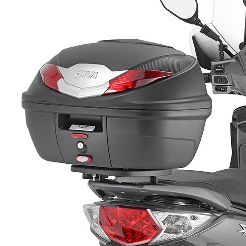 Cutie / Topcase Moto GIVI MONOLOCK B360 36 L · Negru / Gri / Roșu