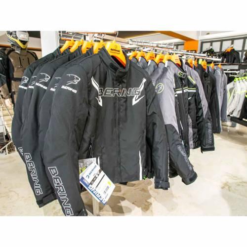 Geacă Moto din Textil BERING MACEO · Negru / Alb