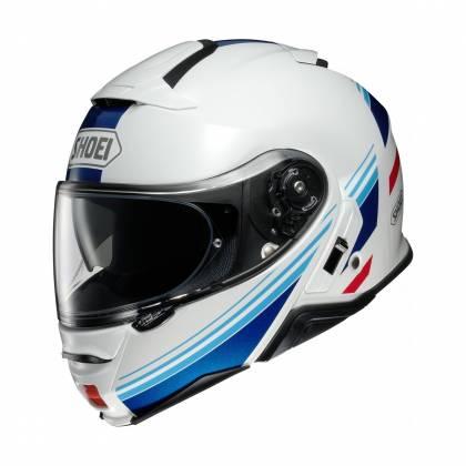 Cască Moto Flip-Up SHOEI NEOTEC-II RESPECT TC-10 · Negru / Albastru / Alb / Roșu