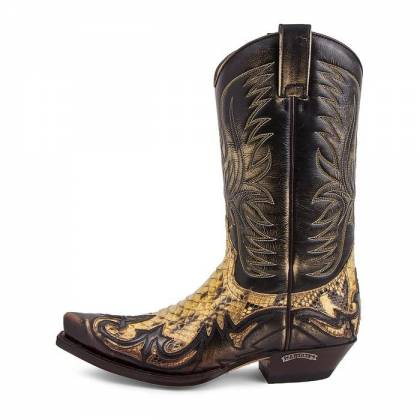 Cizme Cowboy Unisex SENDRA BOOTS 3241 Denver Tierra-Piton Barriga Panizo 2
