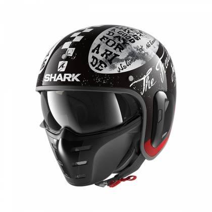 Cască Moto Open Face SHARK S-DRAK 2 FREESTYLE CUP · Negru