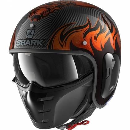 Cască Moto Open Face SHARK STREET DRAK CARBON SKIN
